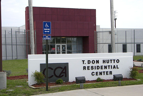 The T. Don Hutto Detention Center where families are being detained in inhumane conditions - even children, pregrant women and