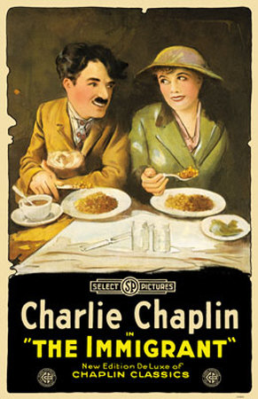 charlie chaplin movies poster. immigrant poster